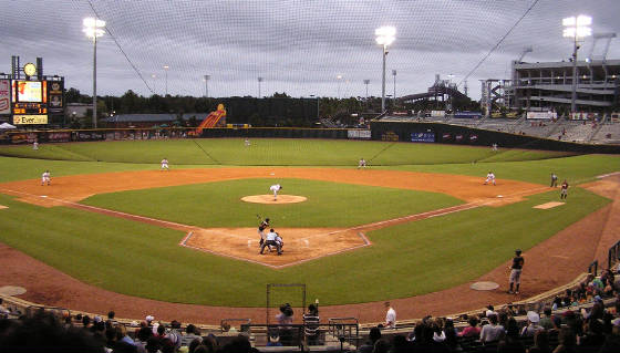 The view of the Baseball Grounds of Jacksonville