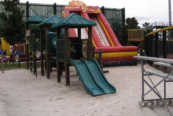 The playgound and beach in CF - Jacksonville